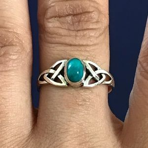 Jewelry - Sterling Silver Celtic Chrysocolla Ring